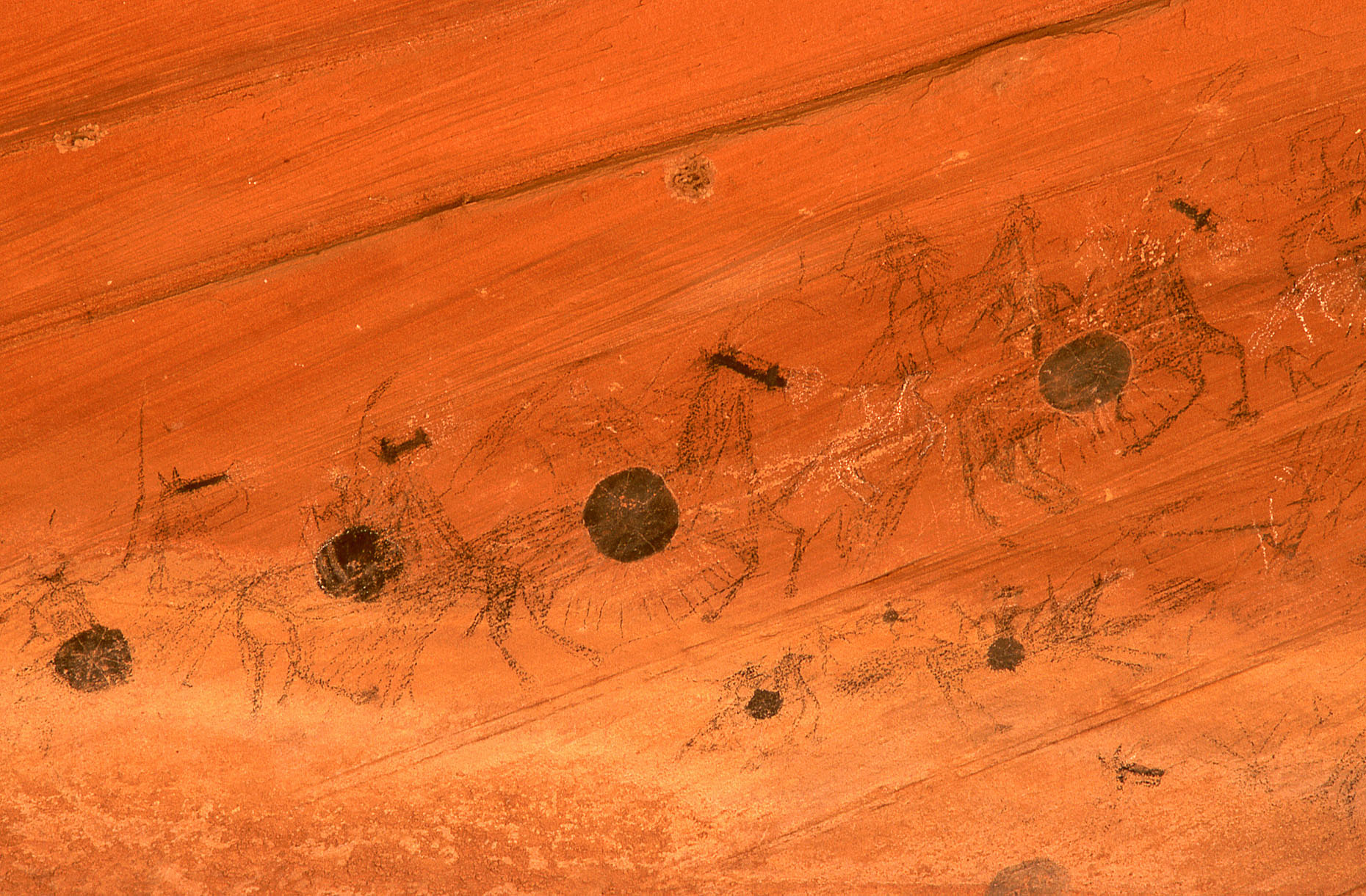 Ute Fight Mural, John Annerino, Canyon del Muerto, Canyon de Chelly National Monument, AZ