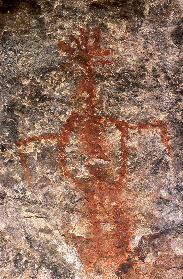 Bird pictograph, John Annerino, Cave Springs Cowboy Camp, Canyonlands National Park, UT, National Register of Historic Places