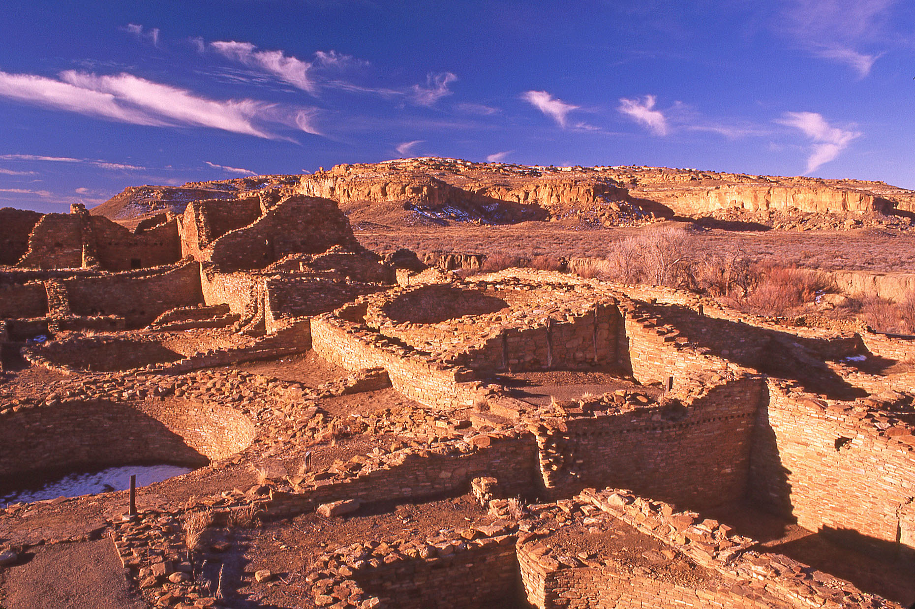 Pueblo del Arroyo, John Annerino, Chaco Culture National Historical Park, NM, UNESCO World Heritage Site