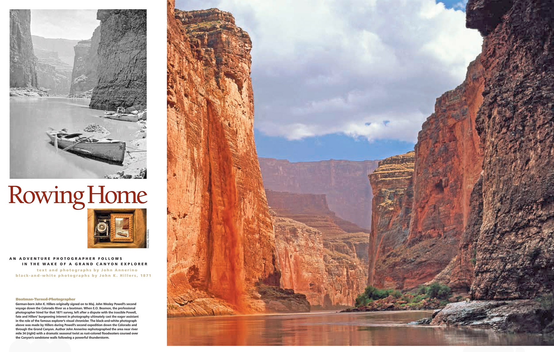 Rowing Home, John Annerino, Adventure Photographer, Grand Canyon photographer, John K. Hillers, Arizona Highways , John Annerino, photography book reviews, National Geographic Adventure